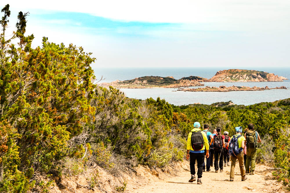 Isolotti Li Nibani all'orizzonte - Trekking in Costa Smeralda